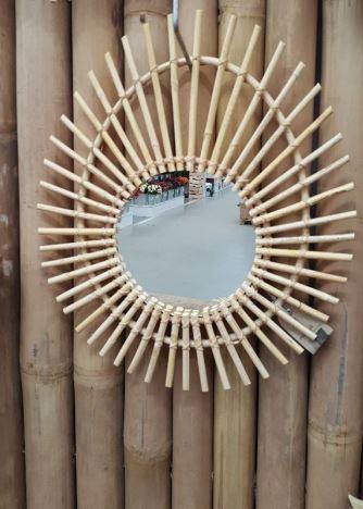 De Spiegel Vof.Spiegel Rotan Ovaal Stoer Krachtig Wonen