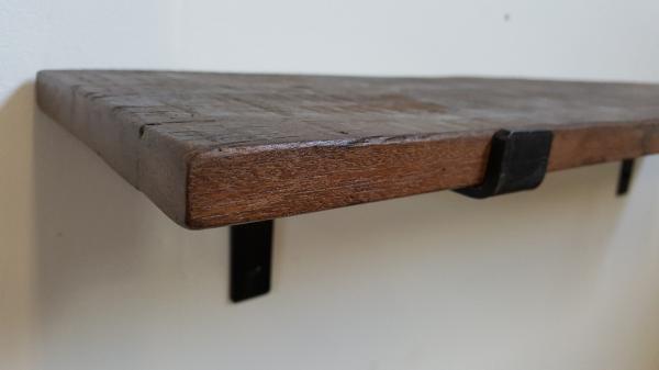 Wandplank Zwart Metaal Hout.Wandplank Factory 80 Cm Stoer Krachtig Wonen