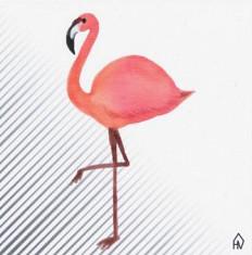 Keramische Tegel Flamingo - 15 x 15 cm