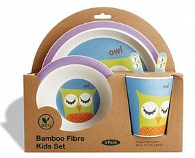 Kinderservies Bamboe Uil