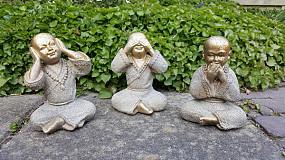 Shaolin Monniken HOREN/ZIEN/ZWIJGEN - Brons
