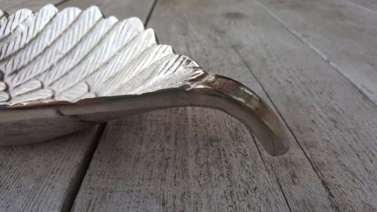 Schaal Vleugel - ruw nikkel