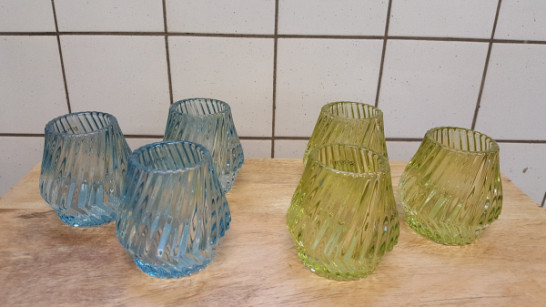Set van 3 Theelichthouders Verdië - Glas