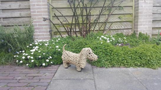 Decoratieve hond - Metaal met Touw