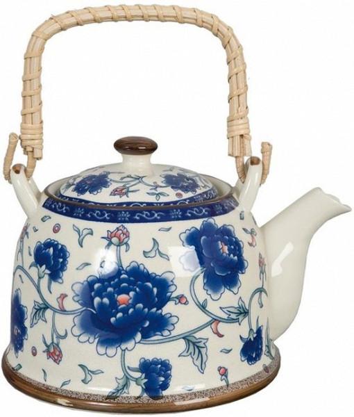 Theepot Vintage - Blauw - 14 x 14 cm