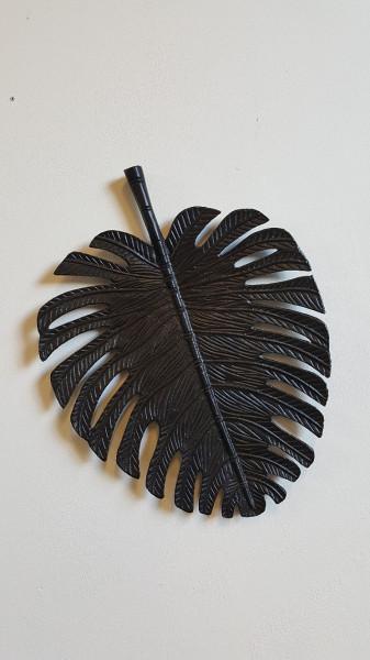 Wandornament Leaf Black