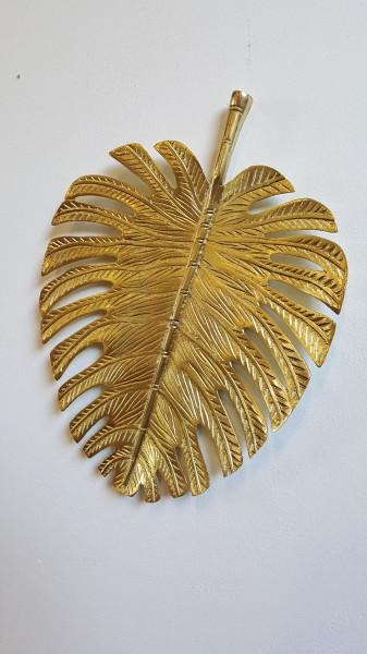 Wandornament Leaf Gold