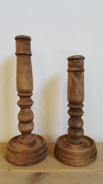 Set van 2 kandelaars - hout